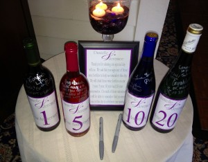 wine bottle guestbook in altamont ny