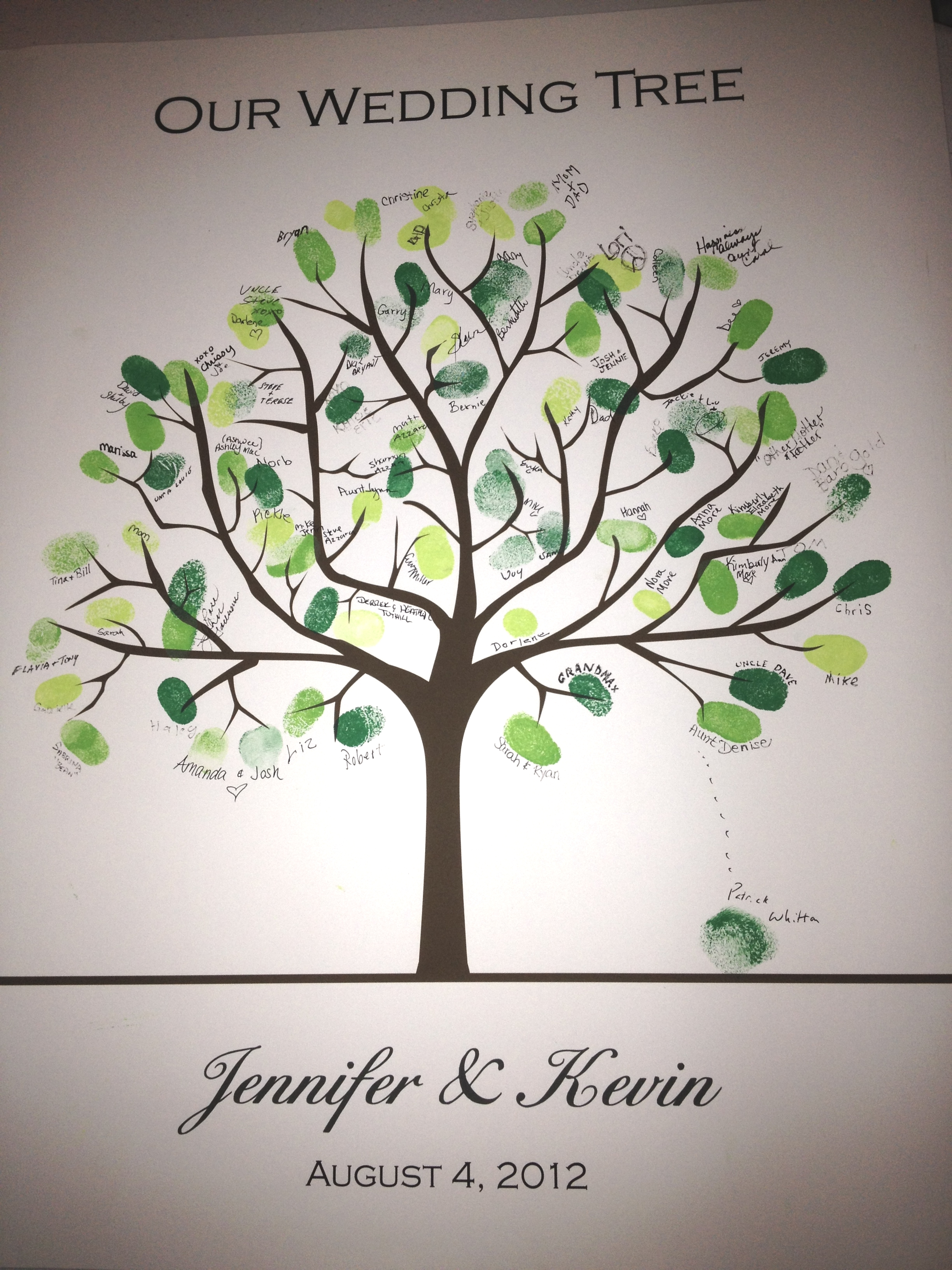 Fingerprint wedding guest book dj albany saratoga troy ny fingerprint wedding guestbook tree sciox Images