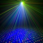 DJ laser light show