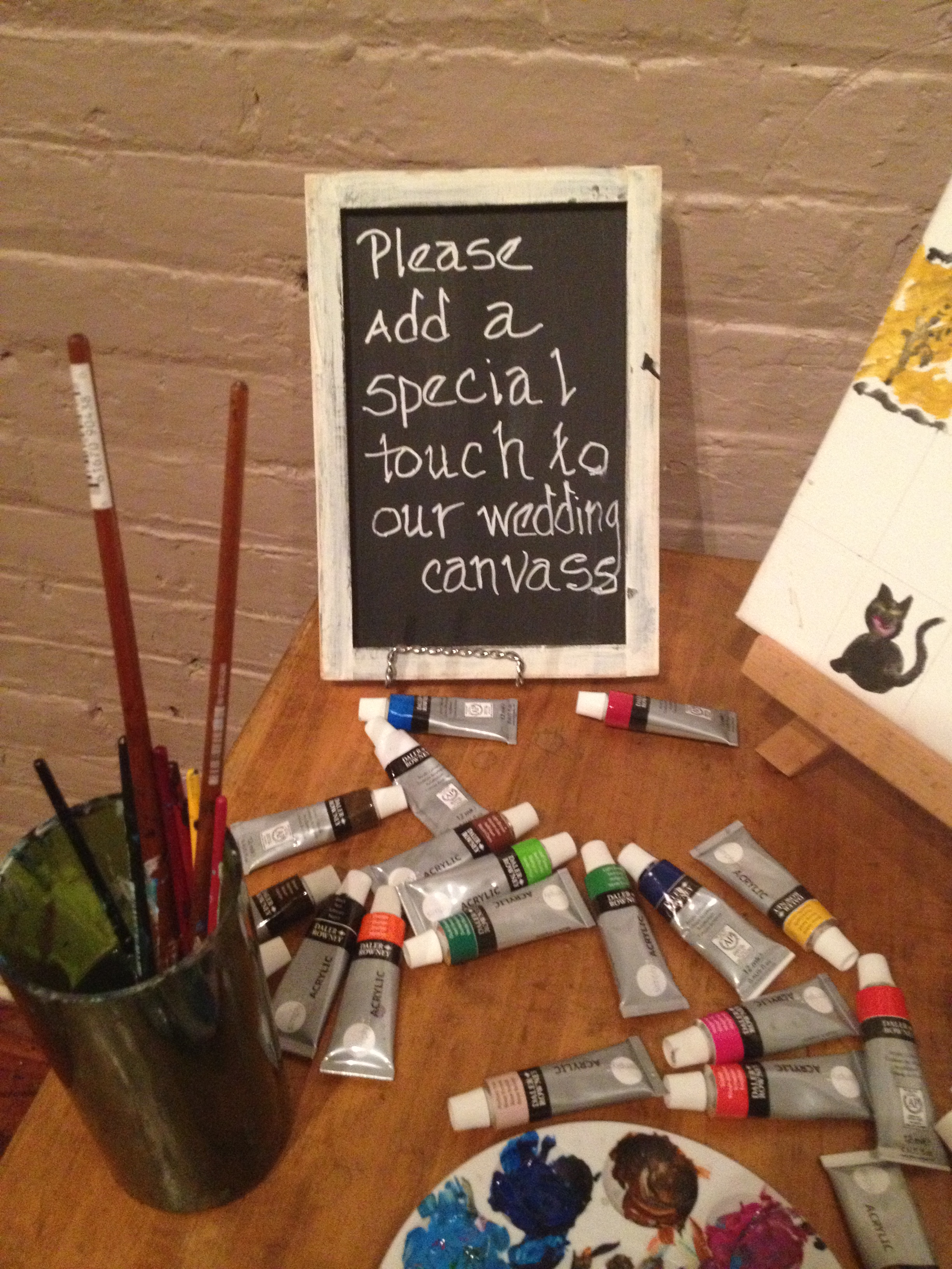 Wedding Guest Book Idea – Group Painting | Albany Wedding DJ ...