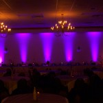 Wedding Uplighting for your head table and ballroom