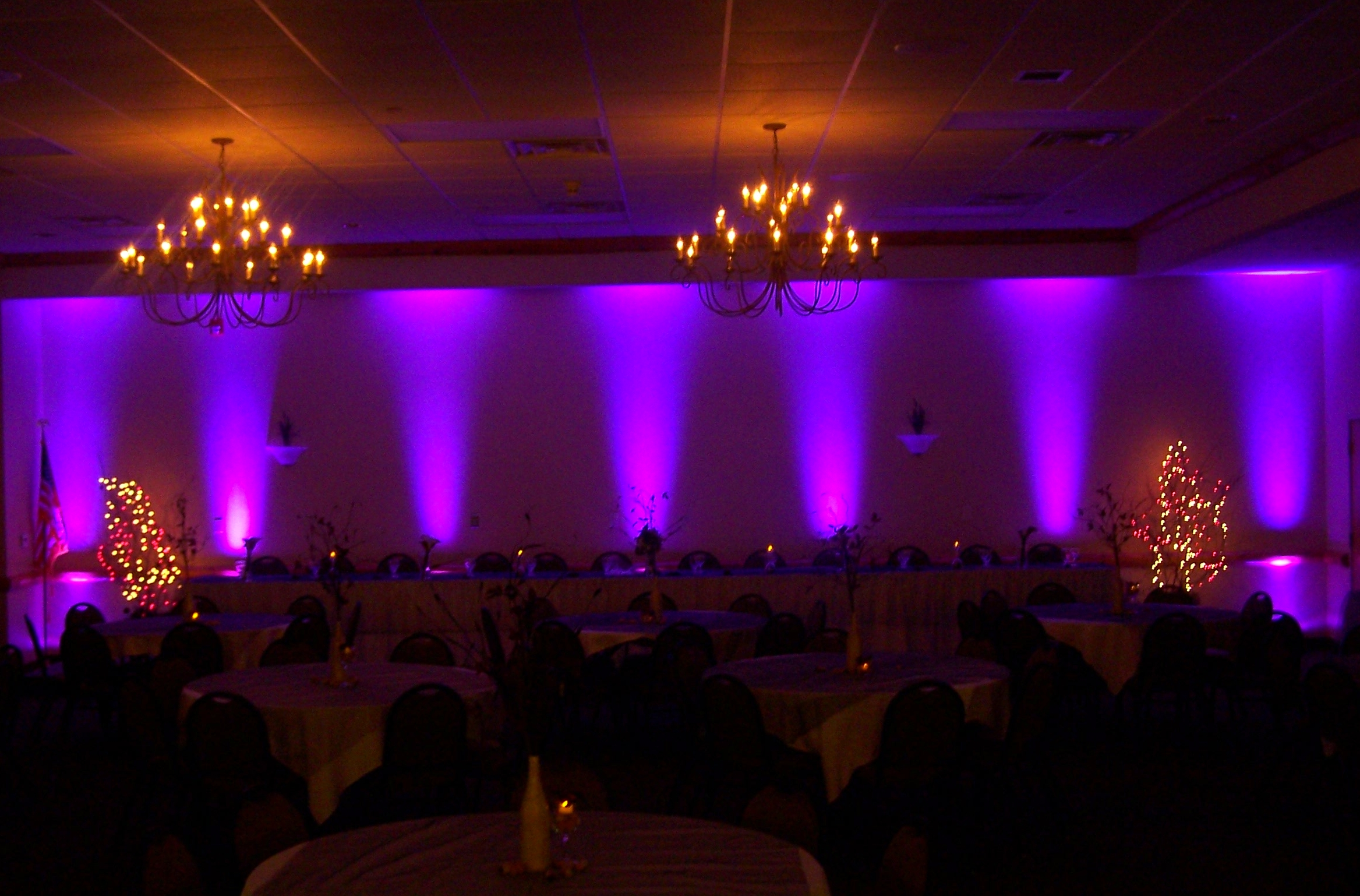Wedding Uplighting for your head table and ballroom & Event Lighting Packages Albany NY | Event Lighting Packages Saratoga ...