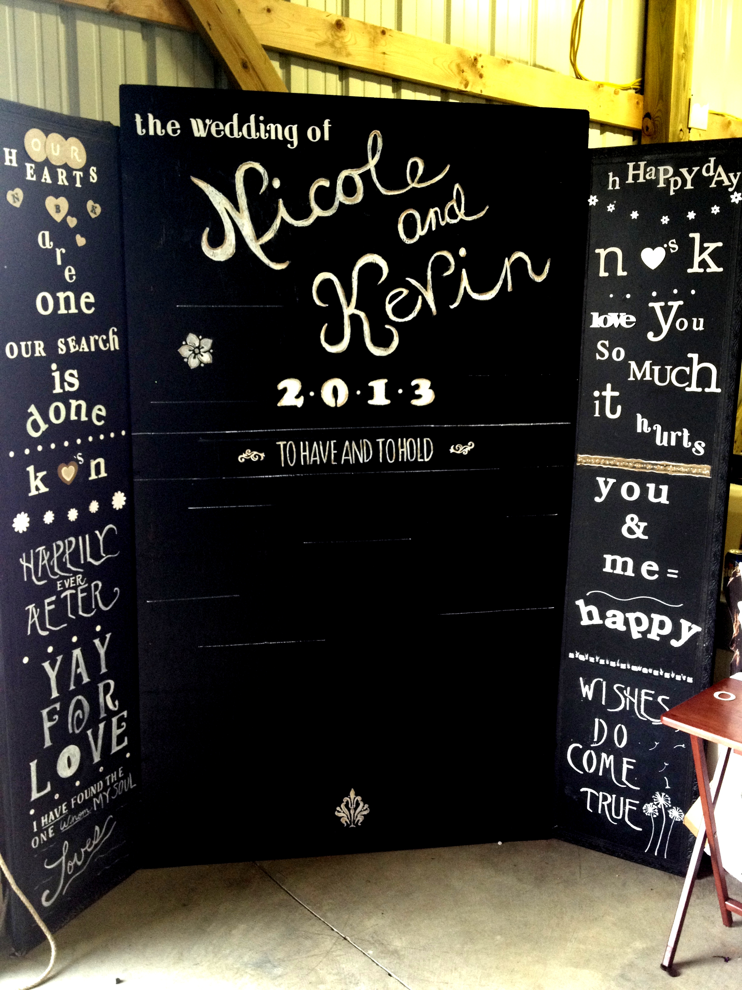 Chalkboard Wedding Photobooth Idea