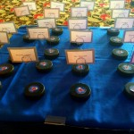 Latham NY DJ - Hockey Theme Wedding - Hockey Puck Wedding Place Cards