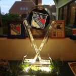 wedding ice statue - Latham NY DJ - Hockey Theme Wedding