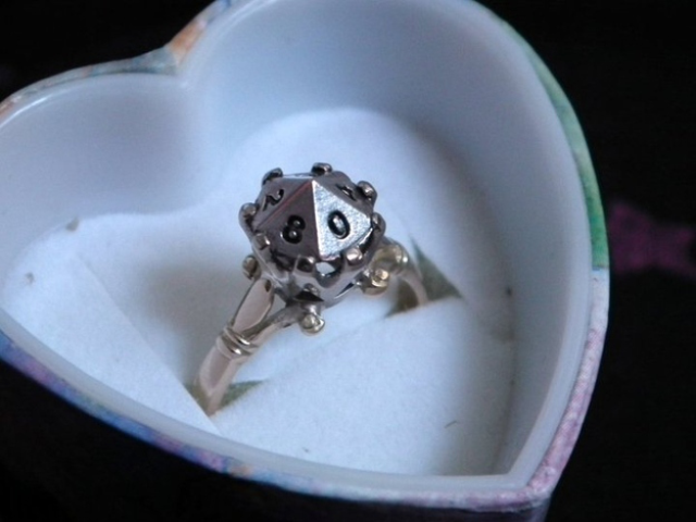 dungeons dragons d 10 gamer engagement ring - Star Trek Wedding Ring