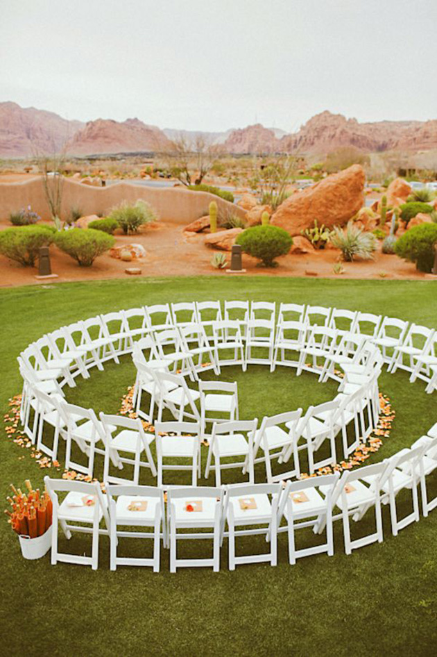 Spiral wedding ceremony idea circular albany wedding for Decoration jardin spirale