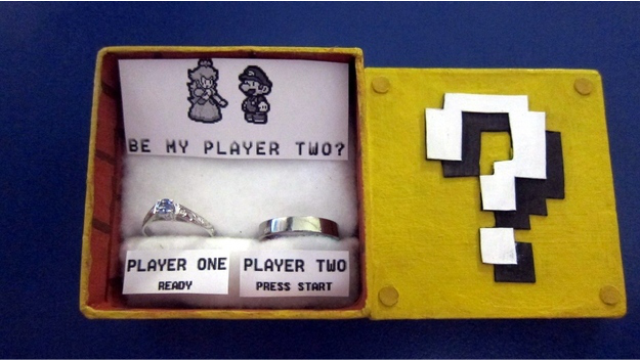 super mario engagement ring - Gamer Wedding Rings