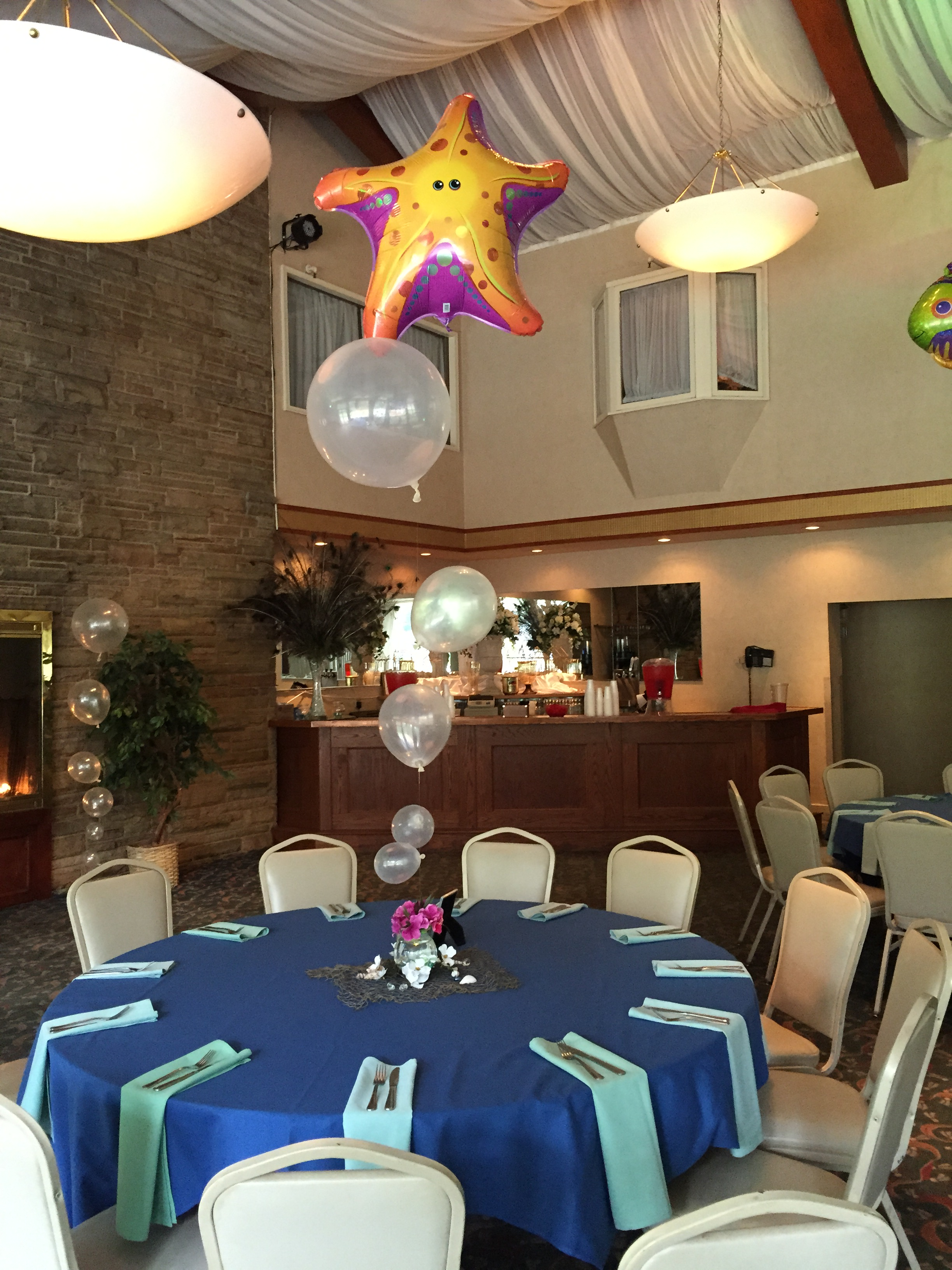 Under the sea theme table decorations albany wedding dj sweet 16 under the sea table decoration junglespirit Gallery