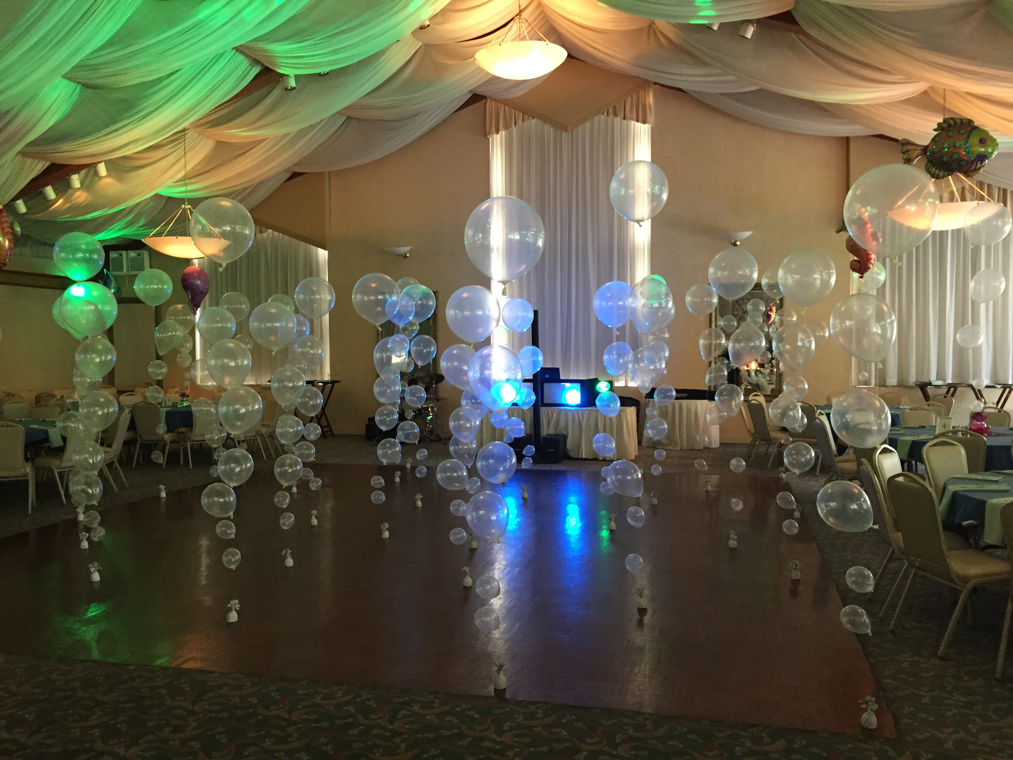 Under the sea party theme albany wedding dj sweet 16 dj for Floor decoration ideas