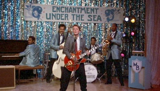 Under-the-sea-theme poster from back to the future for party theme dj idea