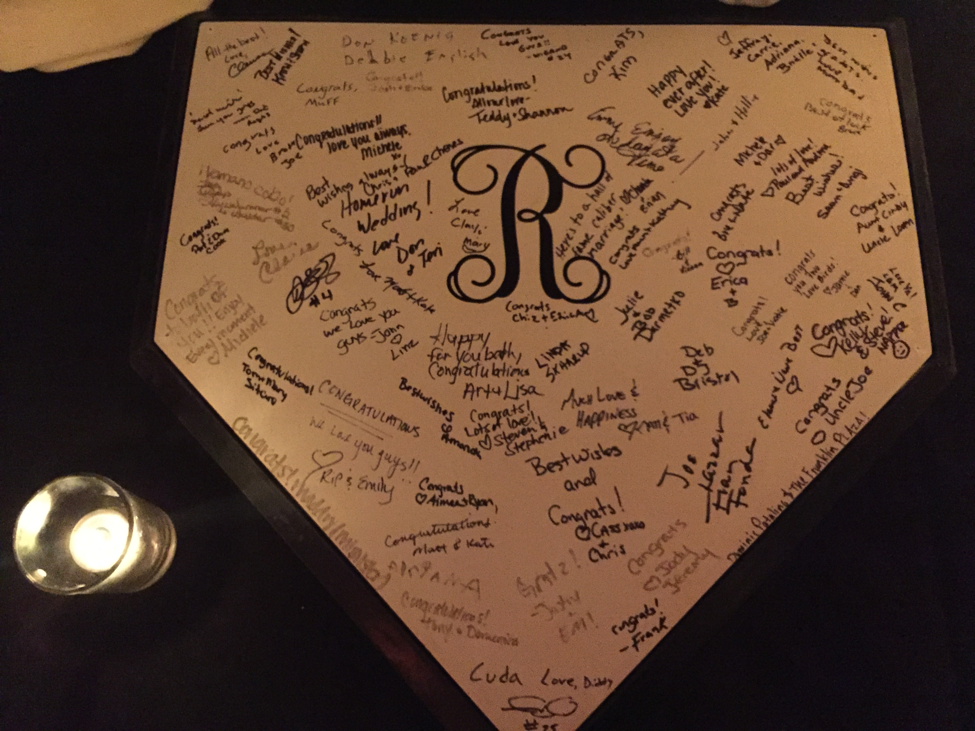 Baseball Theme Wedding Guest Book