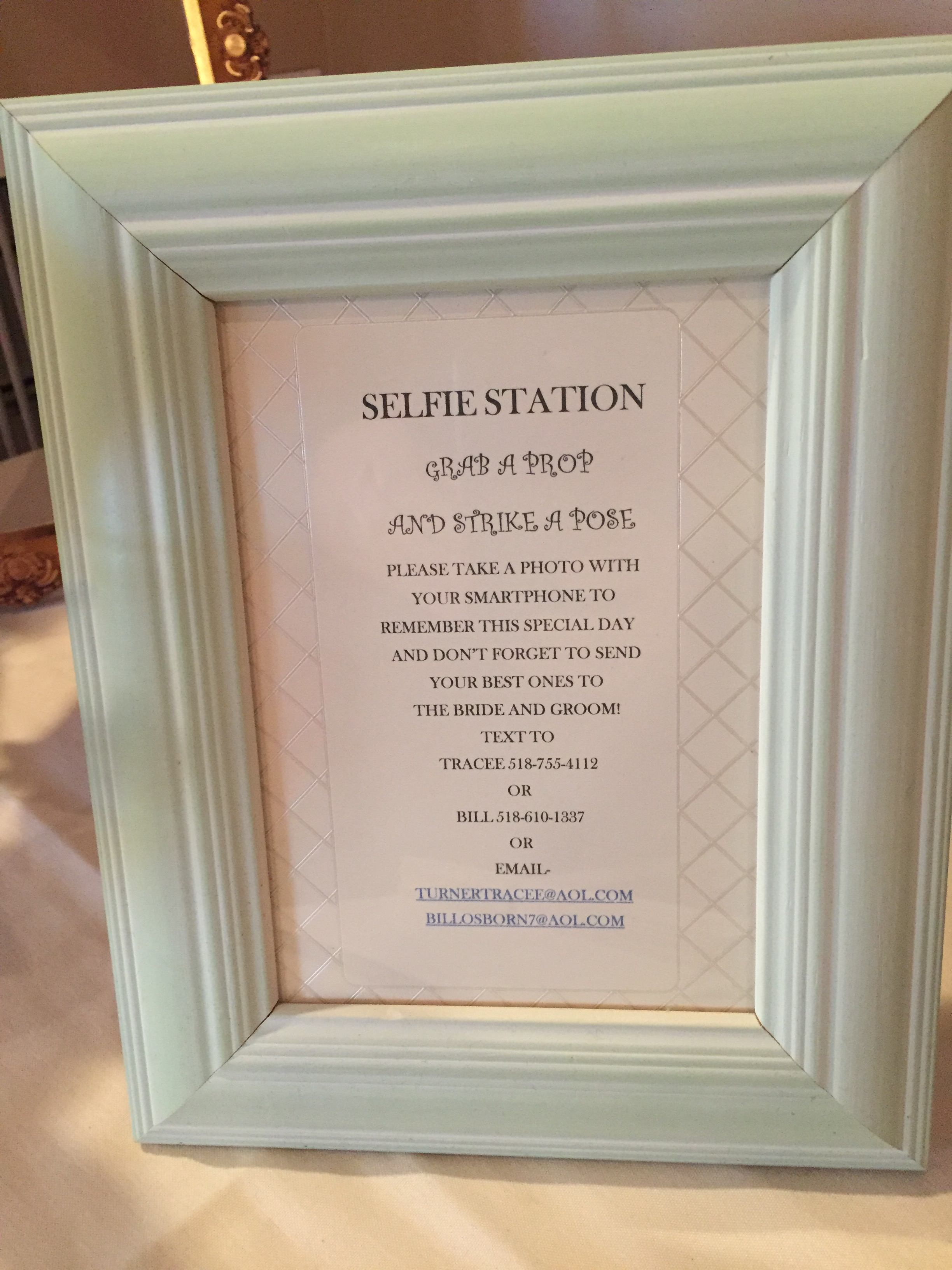 Wedding Selfie Station Sign Albany Dj Sweet 16 Reunion Party Mitzvah Of Troy Schenectady Saratoga Lake George