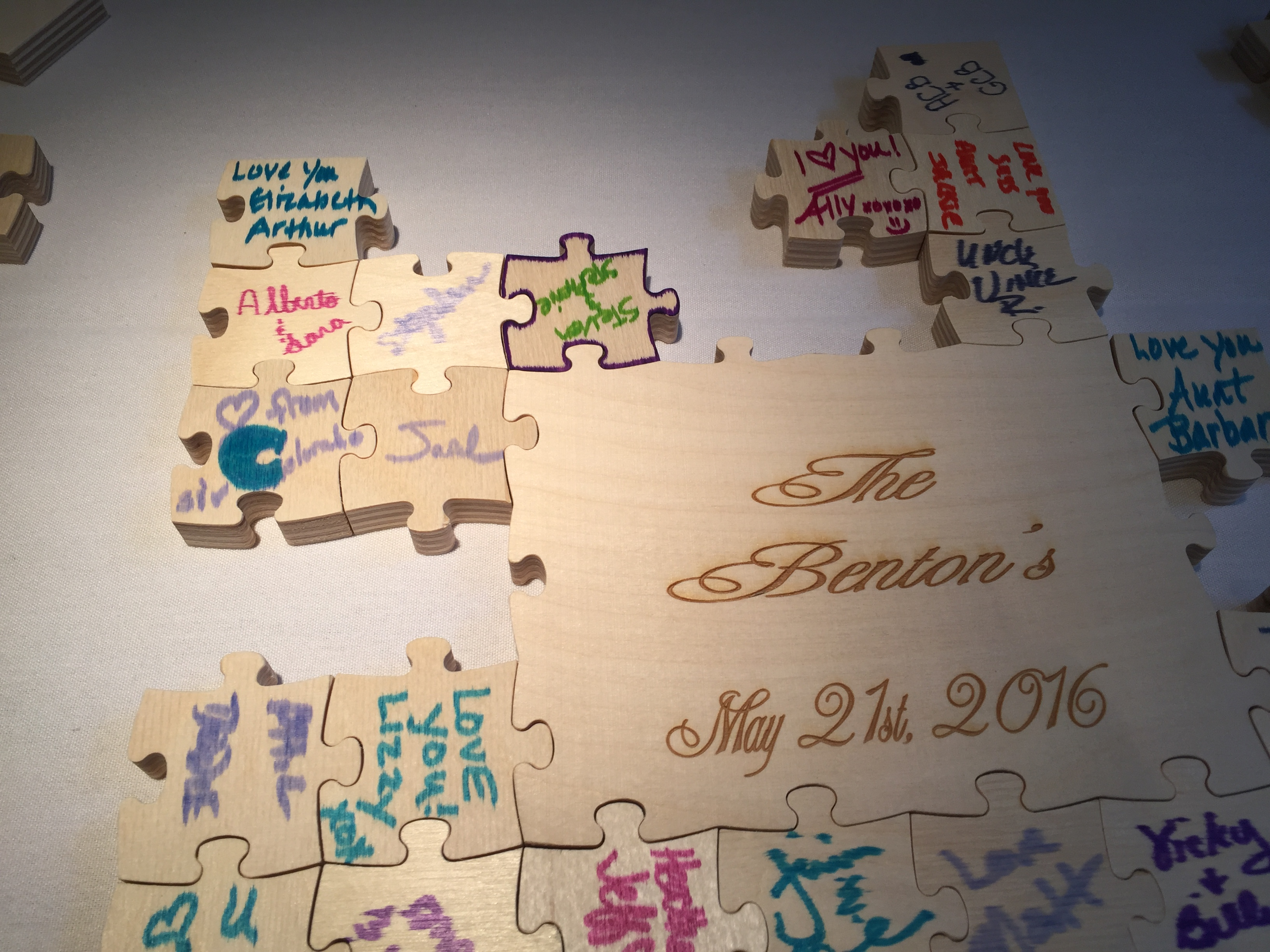 Puzzle Piece Wedding Guest Book TheDJservicecom Albany NY