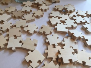Puzzle Piece Wedding Guest Book