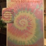 Tie Dye Poster Guest Book