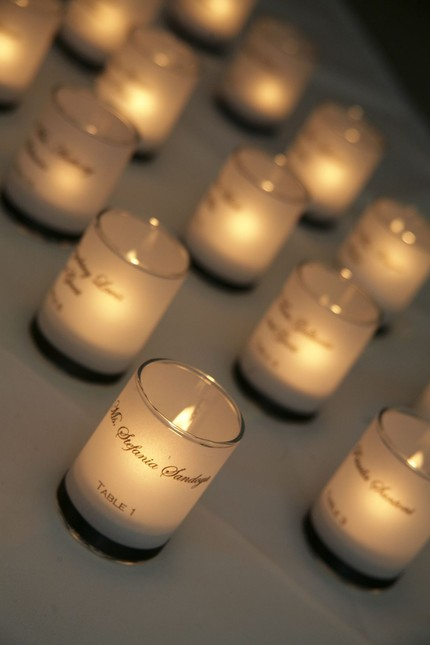 how to make candle place cards