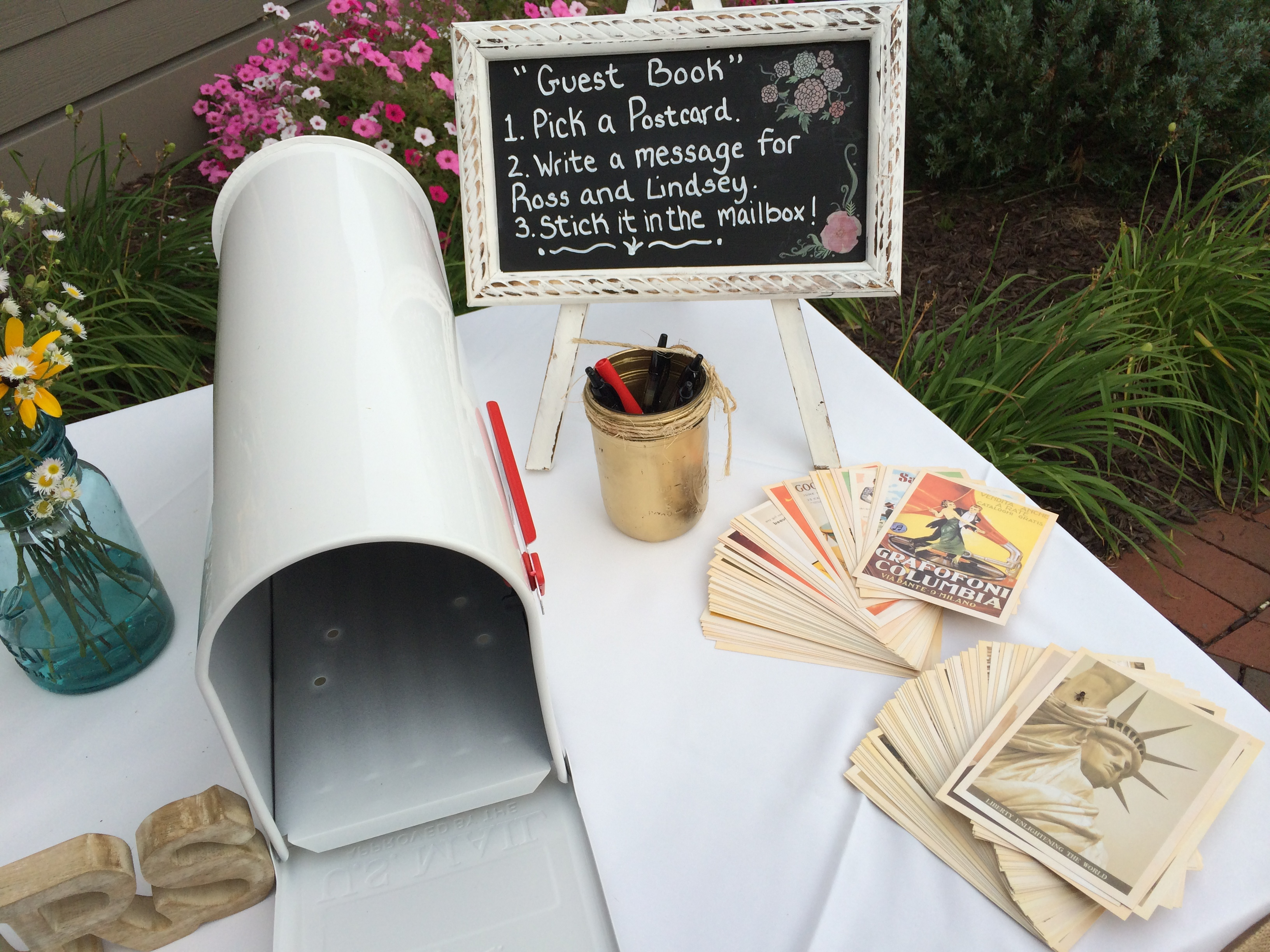Postcard Wedding Guest Book Idea - Guestbook | Albany Wedding DJ ...